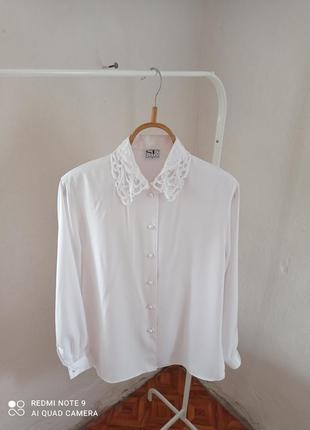 Воротник стразы вышитый воротник рубашка белая
