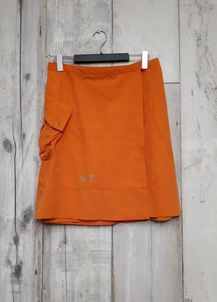 Jack wolfsin юбка на запах с бтльшим карманом для путешествий прогулок р м -l