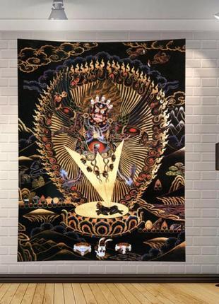 Картина-гобелен текстильная ваджрапани буддизм