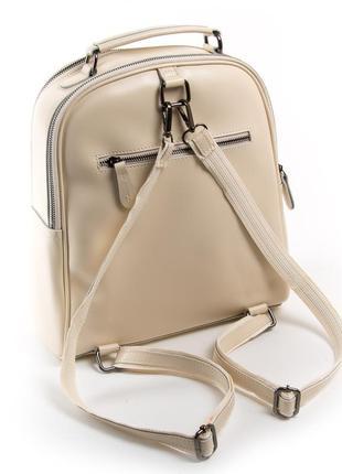Женский кожаный рюкзак изготовлен из натуральной плотной кожи