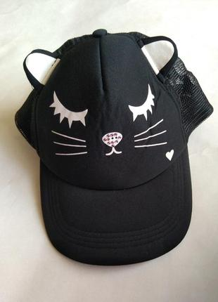 Бейсбоока tally weil с ушками кепка кошка круглый козырек
