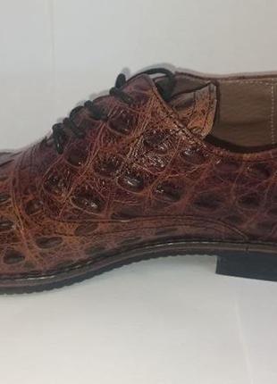 Туфли из кожи крокодила