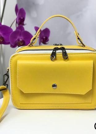 Жовтий клатч сумка