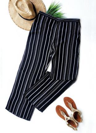 Легкие летние свободные брюки из натуральной ткани f&f.