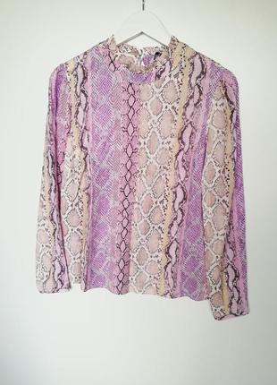 Блуза длинный рукав вискоза