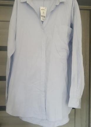 Рубашка батал натуральная оверсайз