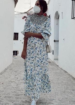 Красивое льняное платье zara