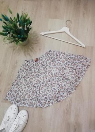 Летняя юбка в цветочный принт