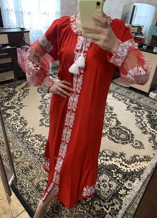 Сукня вишиванка розмір оверсайз