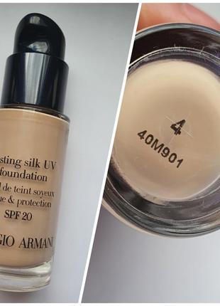 Giorgio armani lasting silk uv foundation spf 20 - тональный крем