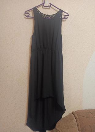 Платье сарафан со шлейфом шифон м с h&m