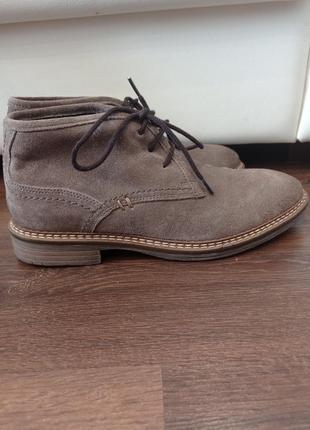 Классические туфли ботинки оксфорды замшевые винтажный стиль