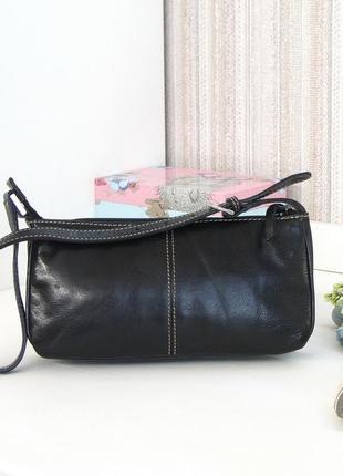 Кожаная сумка, marks & spencer, натуральная кожа.