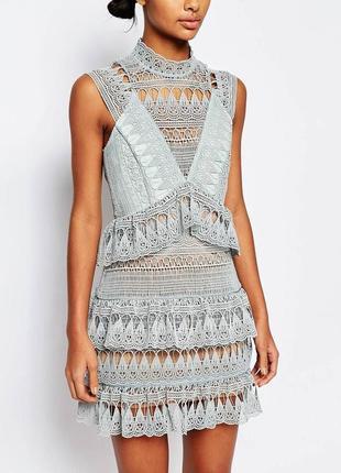 Гіпюрове плаття гипюровое кружевное вечернее шикарное платье