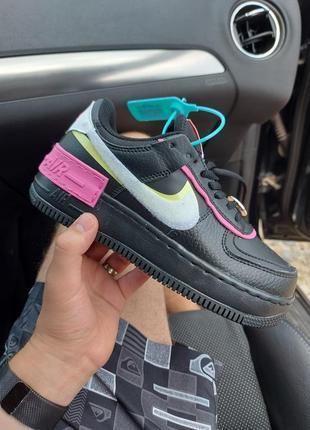Nike air force 1 shadow best sneaker кроссовки черные