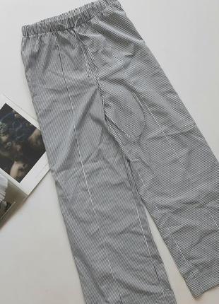 Красивые брюки палаццо полосатые 12 л