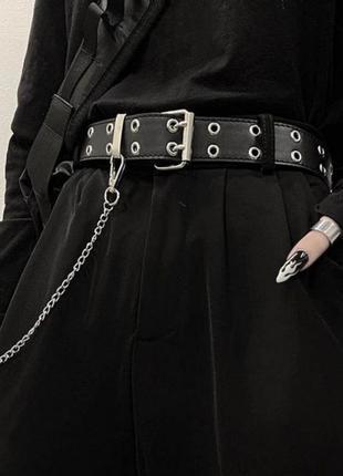 Ремень с цепью унисекс панк