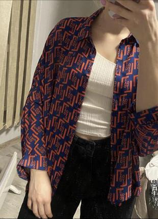 Стильная легкая блузка свободная