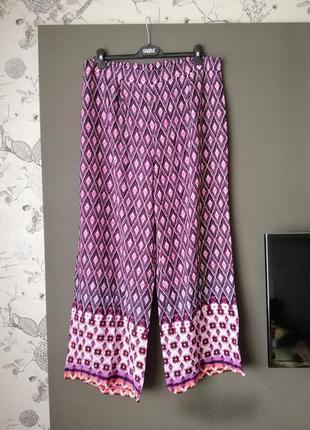 Яскраві штани-юбка великий розмір