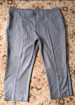 Летние укороченные,зауженные брюки