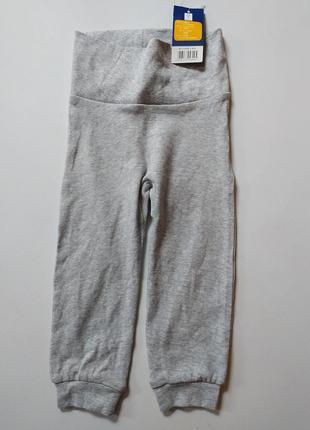 Ползунки штанишки 74 80 см lupilu серые с принтом