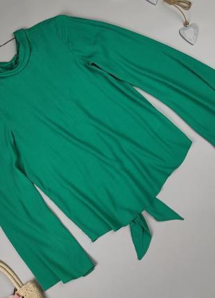 Блуза новая красивая натуральная зеленая topshop uk 6/34/xs