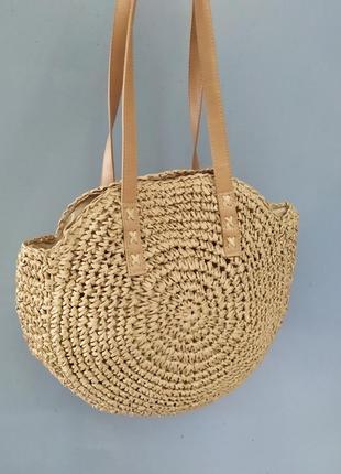 Летняя сумка пляжная вязаная сумка
