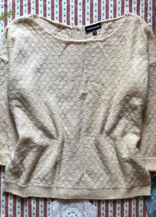Стильный свитер с пуговицами сзади warehouse размер 12 (можно как оверсайз)