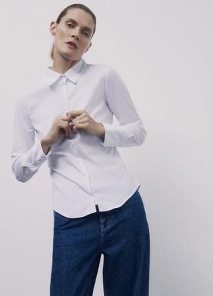 Хлопковая  рубашка  zara
