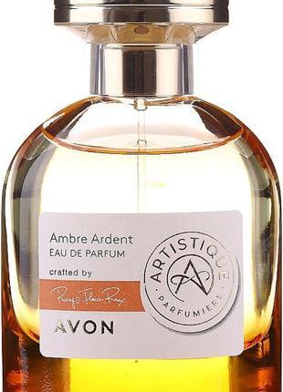Парфюмированная вода avon artistique ambre ardent