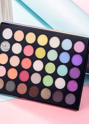 🌺🌿палетка пастельныхг теней для век beauty glazed blooming up (35 color)4 фото