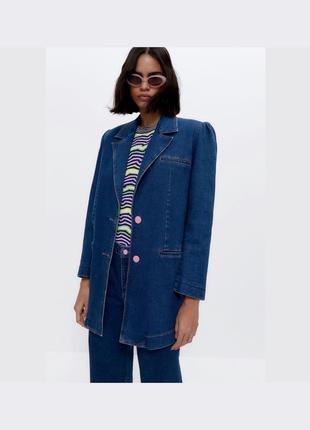 Стильный  джинсовый пиджак жакет от uterqüe оригинал новый