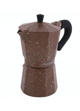 Гейзерная кофеварка на 3 чаш. vincent алюм.