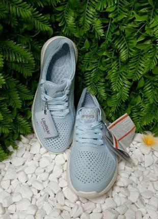Кроссовки crocs literide pacer голубые унисекс