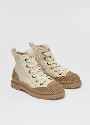 Стильные высокие кеды ботинки zara limited edition