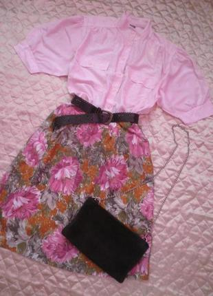 Винтажная нежнейшая шёлковая блуза рукава фонарик, буфы, размер 42(xl-l) смотрите по замерах!
