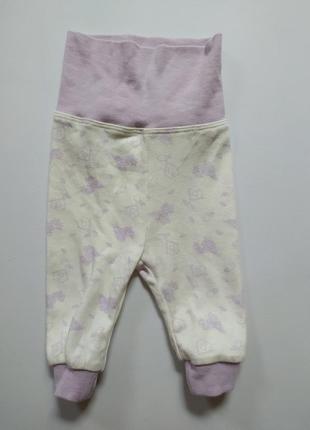 Ползунки штанишки 50 56 см для новорожденного lupilu птички
