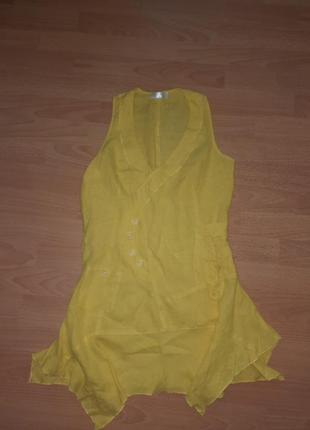 Пляжная туника платье натуральный лен тм linen gallery