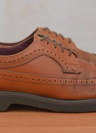 Мужские кожаные коричневые туфли, броги dr.martens, 43 размер. оригинал