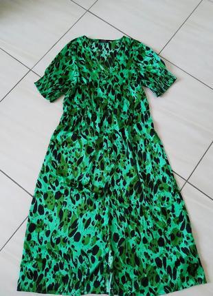 Стильне брендове плаття міді індійське сочного кольру