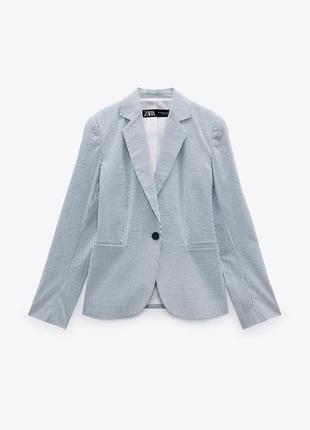Приталенный блейзер/пиджак в полоску zara