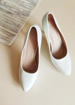 Туфли на свадьбу белые свадебные туфлі весільні