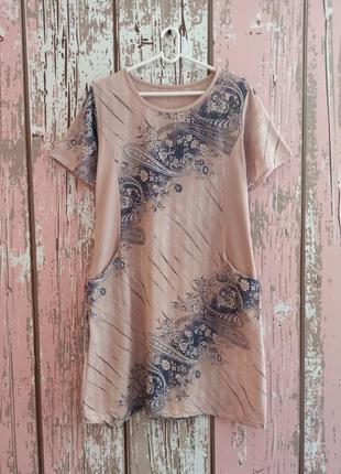 Платье с натуральной ткани с карманами