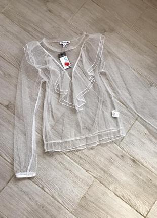 Блуза прозрачная , блуза с рюшами