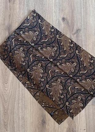 Шелковый шарф 38х133 см