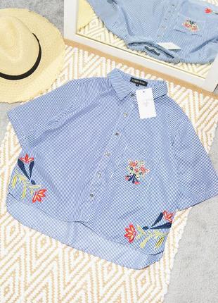 Новая укороченная рубашка футболка с вышивкой cameo rose by in the style