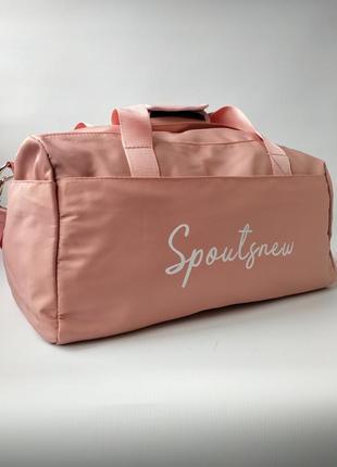 Спортивная, дорожная сумка с отделом для обуви и влажных вещей