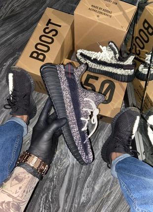 Yeezy boost 350 v2 black reflective кроссовки адидас женские изи буст изики обувь