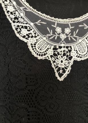 Чорна сукня з білим комірцем від atmosphere (primark)