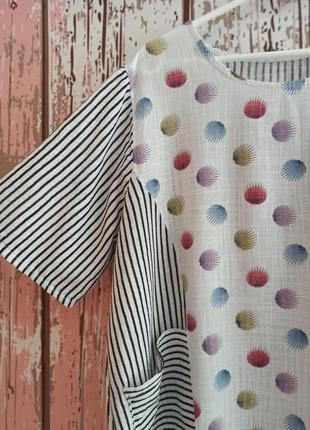 Блуза в полоску с карманами4 фото
